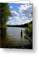 Walden Pond  Greeting Card by Rae Breaux
