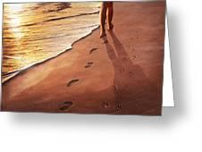 Walk Beside Me Greeting Card by Cliff Hawley