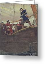Walking The Plank Greeting Card by Howard Pyle