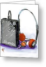 Walkman Greeting Card by Russell Pierce