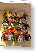 Wall Of Muppets Greeting Card by Choi Ling Blakey