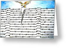 Wall Of Separations Greeting Card by Paulo Zerbato