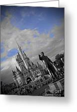 Walt Disney World - Partners Statue Greeting Card by AK Photography