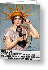 War Poster, C1918 Greeting Card by Granger