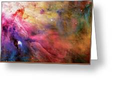 Warmth - Orion Nebula Greeting Card by The  Vault - Jennifer Rondinelli Reilly