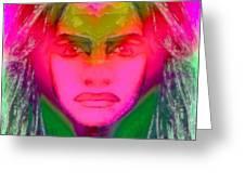 Warrior Goddess IIII Greeting Card by Devalyn Marshall