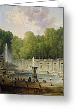 Washerwomen In A Park Greeting Card by Hubert Robert