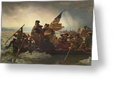 Washington Crossing The Delaware Greeting Card by War Is Hell Store