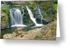 Washington Falls 3 Greeting Card by Marty Koch