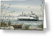 Washington State Ferry Greeting Card by James Williamson