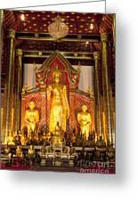 Wat Chedi Luang Wora Wihan Greeting Card by Greg Vaughn - Printscapes