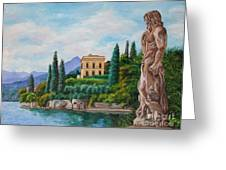 Watching Over Lake Como Greeting Card by Charlotte Blanchard