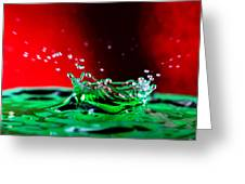 Water drop splashing Greeting Card by Paul Ge