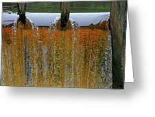 Water Fall at Grismill pond Greeting Card by Danny Jones