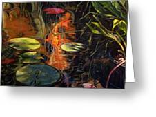 Water Garden Series A Greeting Card by Patricia Reed