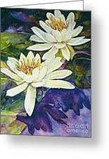 Water Lilies Greeting Card by Norma Boeckler