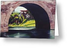 Water Under The Bridge Greeting Card by Dominica Alcantara