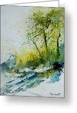 Watercolor 181207 Greeting Card by Pol Ledent