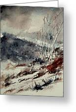 Watercolor 446 Greeting Card by Pol Ledent