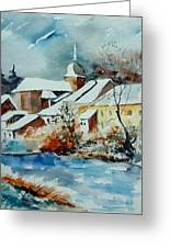 Watercolor Chassepierre Greeting Card by Pol Ledent