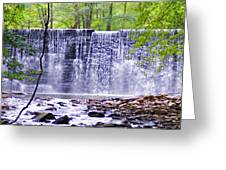 Waterfall In Gladwyne Greeting Card by Bill Cannon