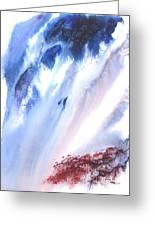 Waterfall Greeting Card by Mui-Joo Wee