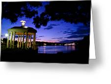 Waterworks At Night Greeting Card by Andrew Dinh
