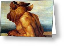 WATTS: THE MINOTAUR Greeting Card by Granger
