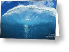 Wave Tube Greeting Card by Ali ONeal - Printscapes
