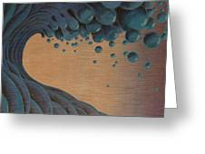 Waves Crashing Greeting Card by Tim Foley