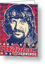 Waylon Jennings Pop Art Greeting Card by Jim Zahniser