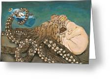 We Are The Kraken Of Our Own Sinking Ships Greeting Card by David  Nixon