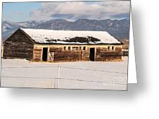 Weathered Barn Greeting Card by Sue Smith