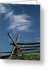 Weathered Fence Greeting Card by Judi Quelland