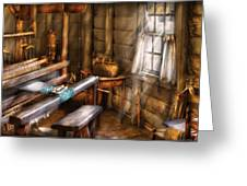 Weaver - The Weavers Room Greeting Card by Mike Savad