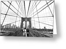 Web Of Love Greeting Card by Andrew Serff