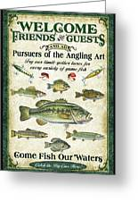 Welcome Friends Sign Greeting Card by JQ Licensing