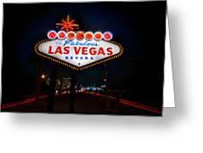 Welcome To Las Vegas Greeting Card by Steve Gadomski