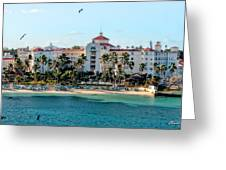 Welcome To Nassau Greeting Card by Christopher Holmes