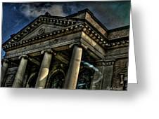 Well's Cathedral Greeting Card by Rick Greene