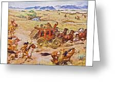 Wells Fargo Express Old Western Greeting Card by Susan Leggett