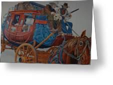 Wells Fargo Stagecoach Greeting Card by Rob Hans