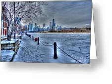 West From Navy Pier Greeting Card by David Bearden