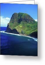 West Maui Ocean Cliff Greeting Card by John Burk