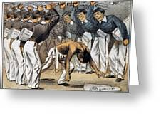 WEST POINT CARTOON, 1880 Greeting Card by Granger