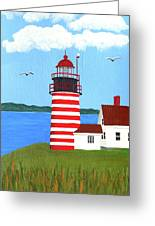 West Quoddy Head Lighthouse Painting Greeting Card by Frederic Kohli