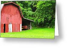 West Virginia Barn And Baler Greeting Card by Thomas R Fletcher