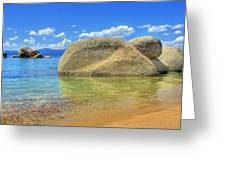 Whale Beach Lake Tahoe Greeting Card by Brad Scott