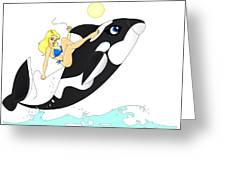 Whale Rider Greeting Card by Lynn Rider