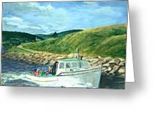 Whale Watching  Nova Scotia Greeting Card by Ethel Vrana